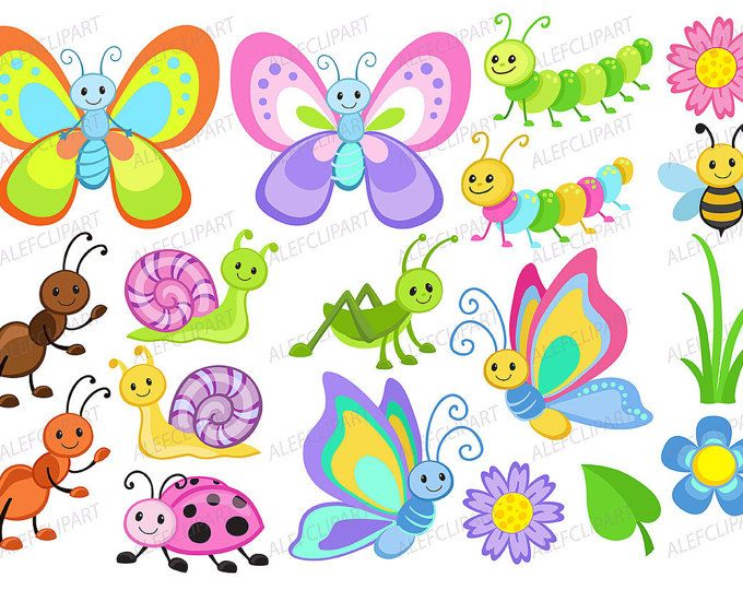 bugs clipart insects clip art ladybug lady bug bee butterfly cute rh pinterest com bugs clipart free bugs clipart png