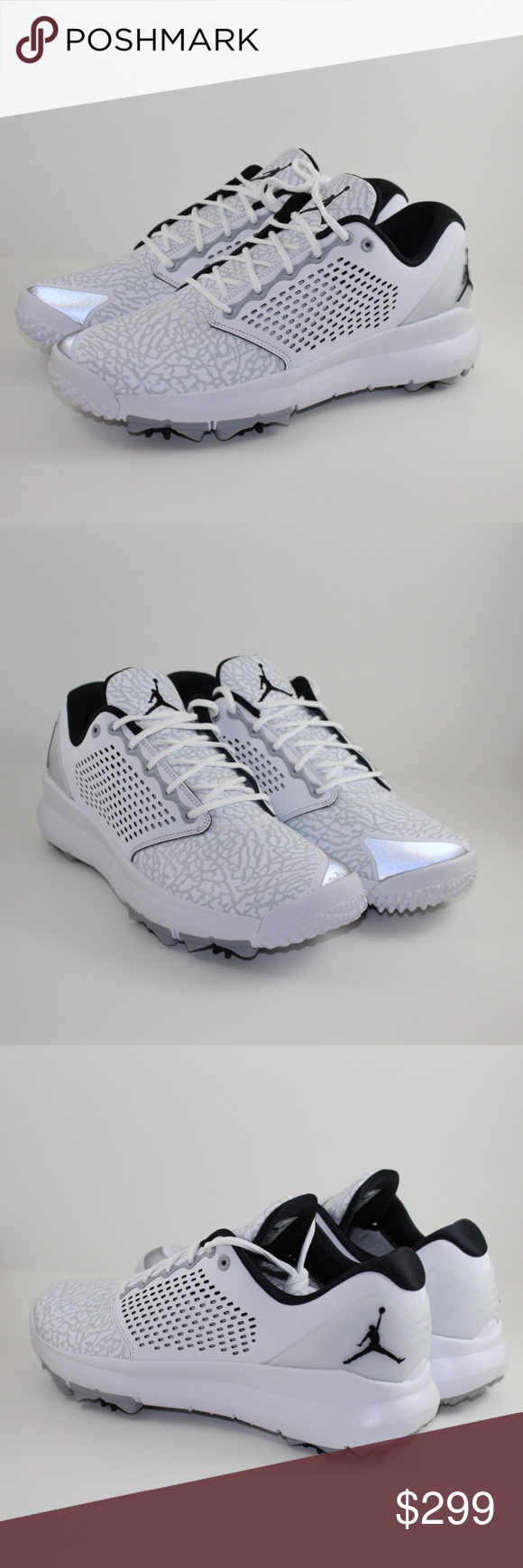 new concept 34b5c 359db Nike Air Jordan Trainer ST G Golf Shoe Nike Air Jordan Trainer ST G Golf  Shoe White Black Wolf Grey Nike Ser.  AH7747-100 Brand New Golf Shoes  without the ...