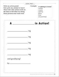 A In Action Powerful Verbs Anytime Poetry Frame Poetry
