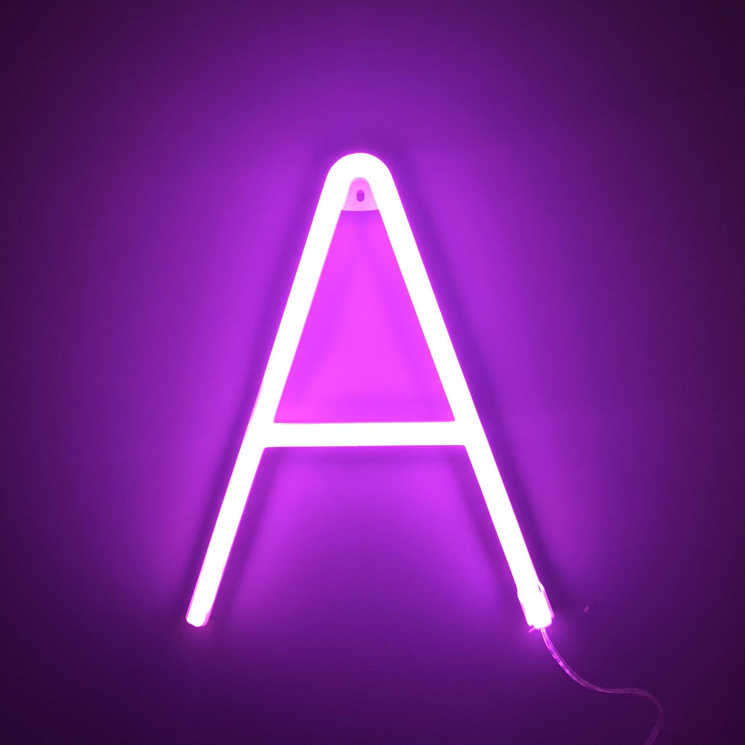 Neon Letter A Pink in 2020 Neon wallpaper, Neon, Lettering