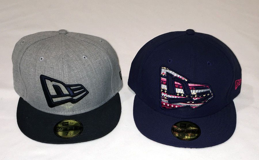 Two 59fifty New Era Caps Baseball Hats With New Era Logo Size 7 1 2 New Fashion Clothing Shoes Accessories Mensaccesso New Era Logo New Era Cap Hats