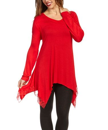 Look at this #zulilyfind! Red Sidetail Tunic by Christine Alexander #zulilyfinds
