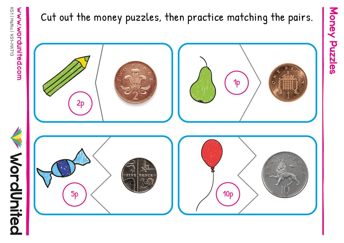 Money Puzzles WordUnited in 2020 Money puzzles, Free