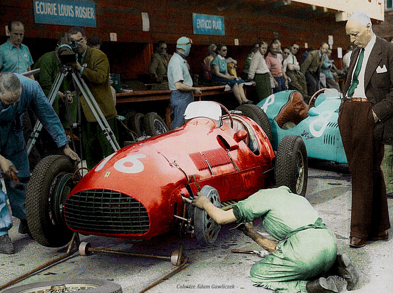 1951 GP Szwajcarii (Circuit Bremgarten) #16 Ferrari 125 (Peter ...