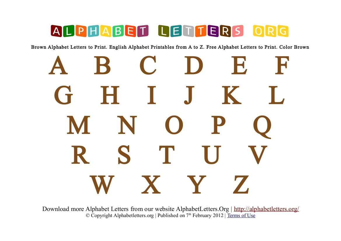 Alphabet Fonts To Print For Free  Alphabet Letters Printable AZ