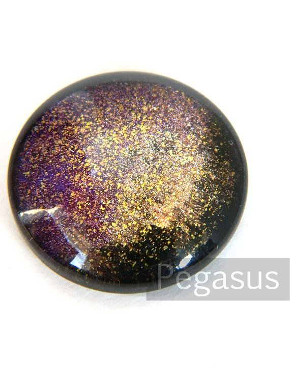 Purple Dragon Queen Round Glass Opal Cabochon (3 Piece)(25mm cab and more sizes) Galaxy jewel for wedding favor,costume,jewelry making