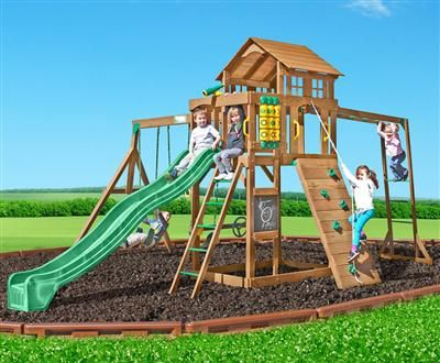 Creative Playthings Cypress Swing Set The Cypress Swing Set Comes