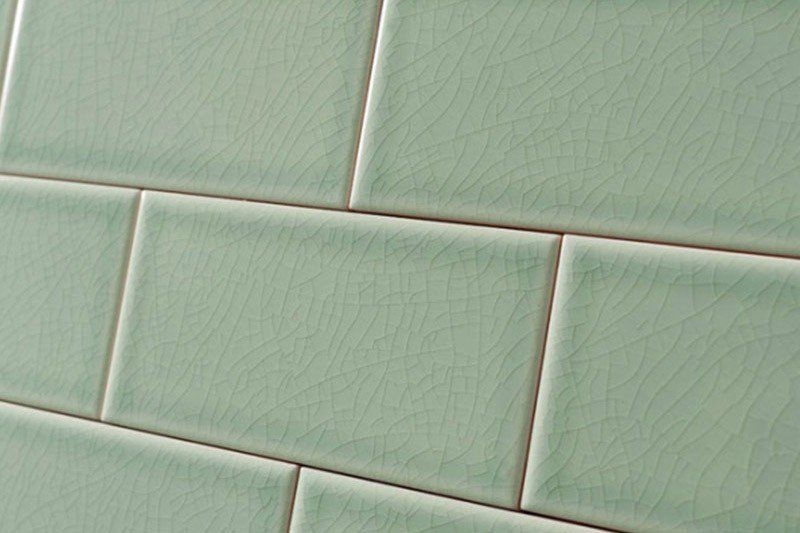 Crackle Glaze Hyde Park Green Subway Wall Tiles 7 5x15cm Crackle Glaze Tiles Wall Tiles Crackle Glaze