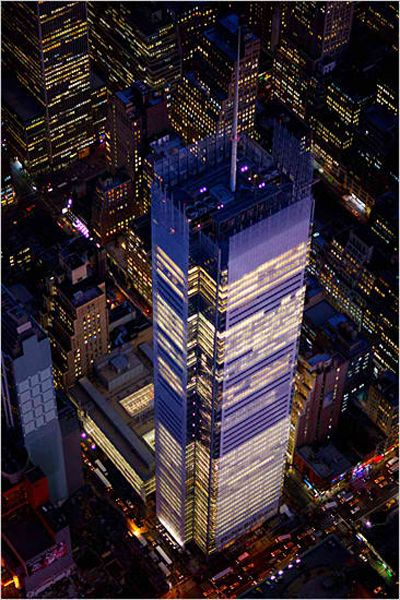 New York Times Building, NY, Renzo Piano Building Workshop   © Vincent Laforet