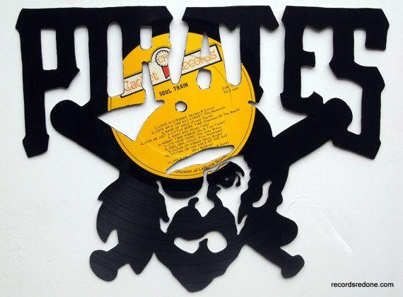 Pittsburgh Pirates Logo Silhouette- Vinyl Record Wall Art | Matt ...