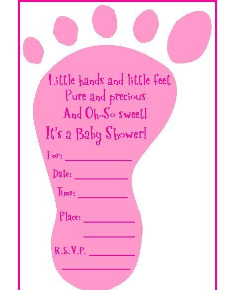 Baby Shower Invitations Baby Shower Invite Template Footprint - invite template word