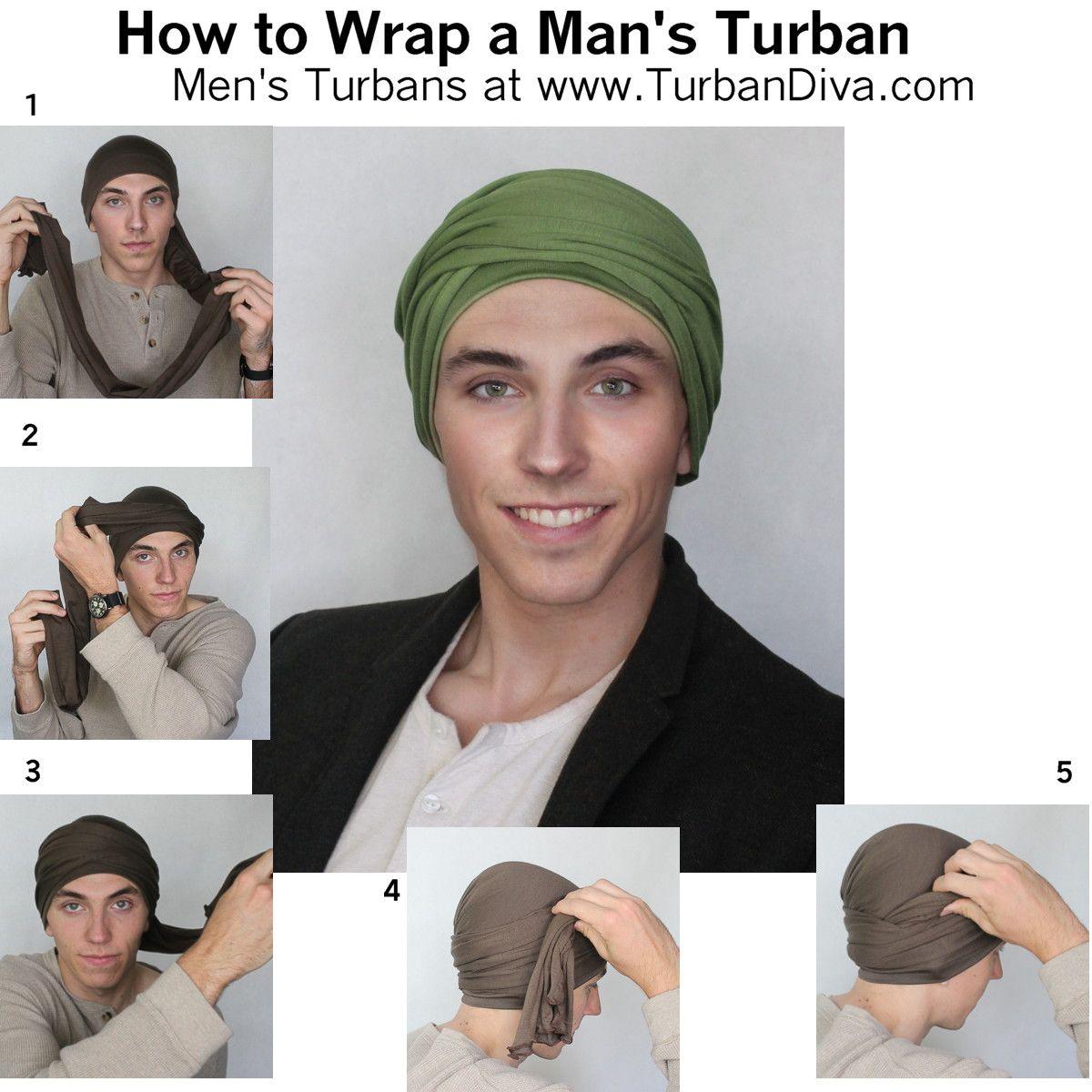 Men's Turban Tutorial, How to Wrap a Man's Turban