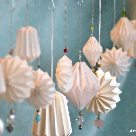 Diy Plissee Anh 228 Nger Und Lampe Mix Weihnachtsdeko