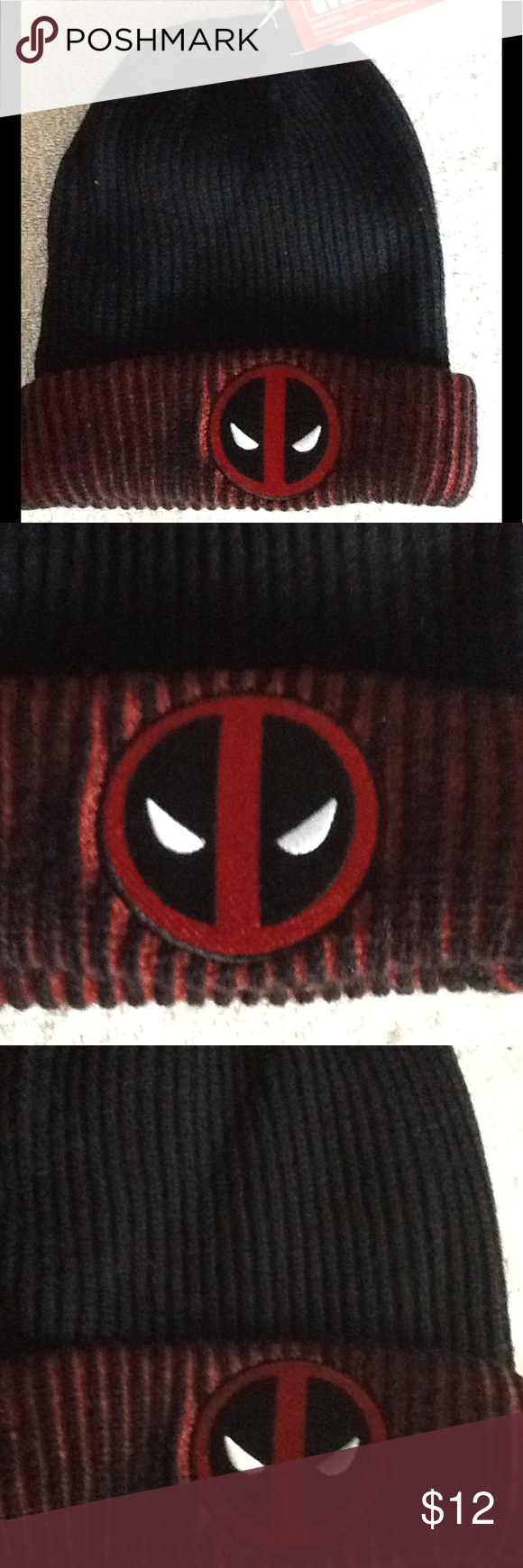 d3c9d034d8410 Deadpool Reversible Beanie NWT Marvel warm winter reversible beanie hat  featuring Deadpool. Cross posted NWT. Smoke free environment Marvel  Accessories Hats