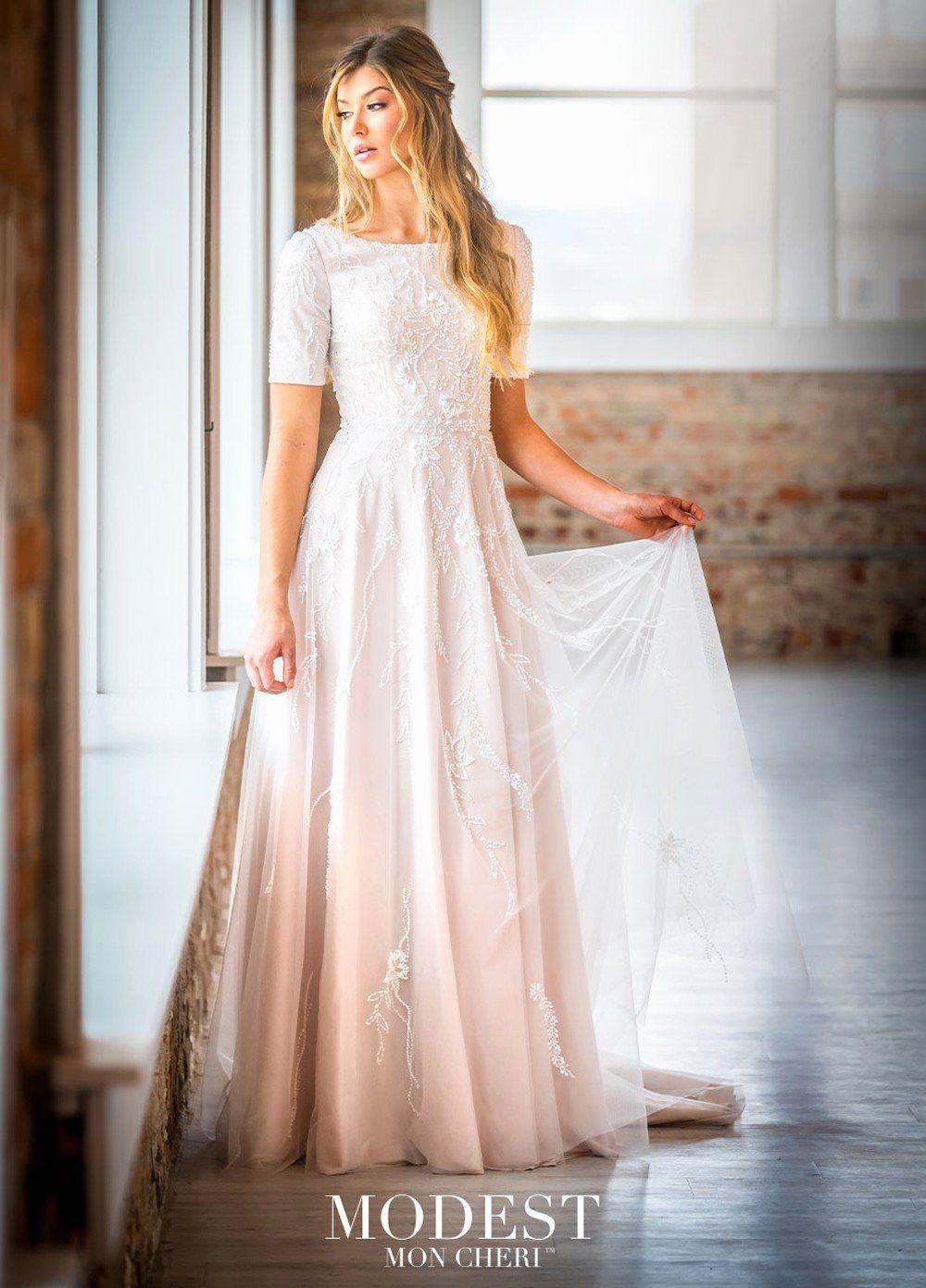 Short Modest Wedding Dress Unique Modest Bridal by Mon