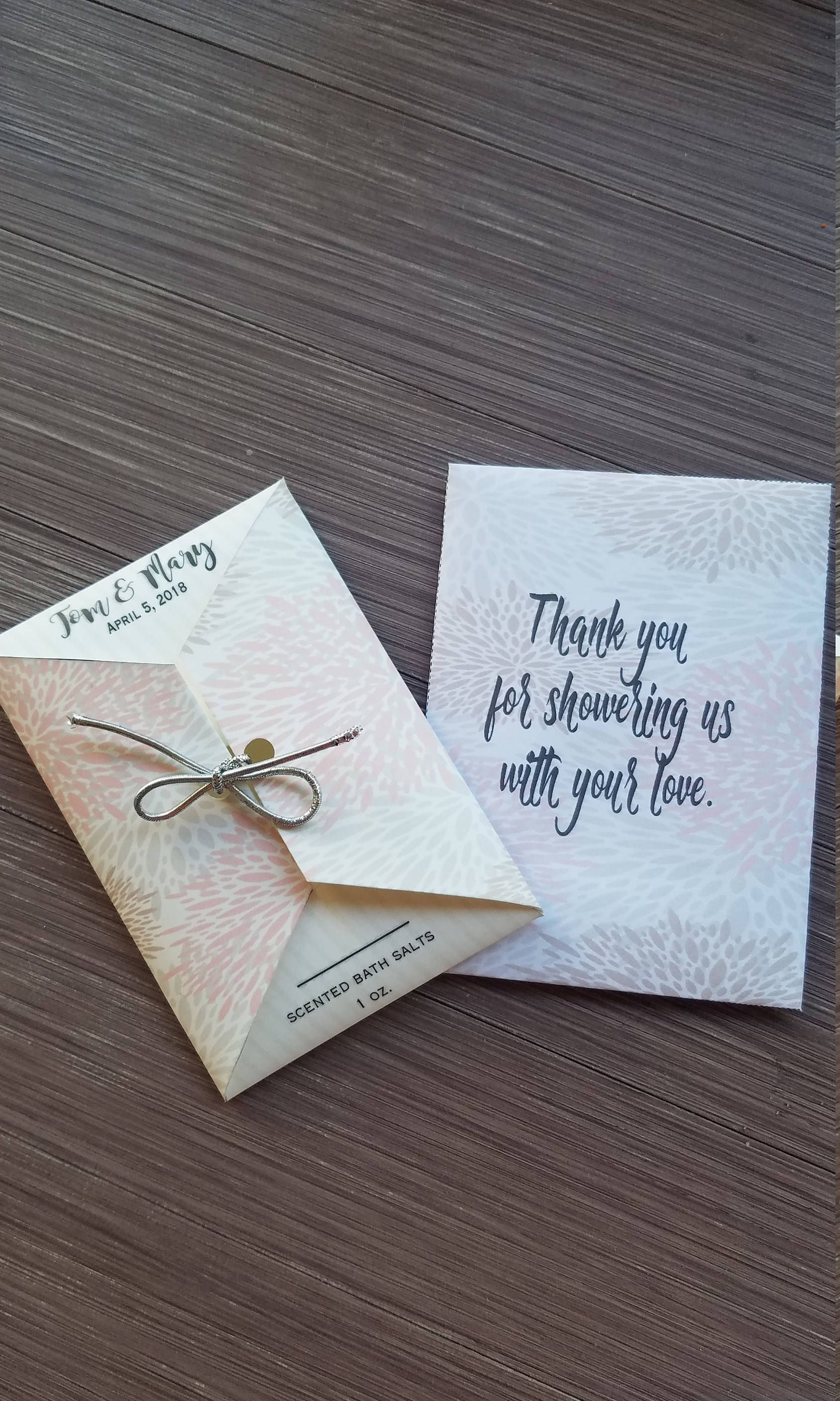 Wedding Ceremony Or Reception Sachets Bath Salts Kleenex Tissues Tears Of Joy Favors