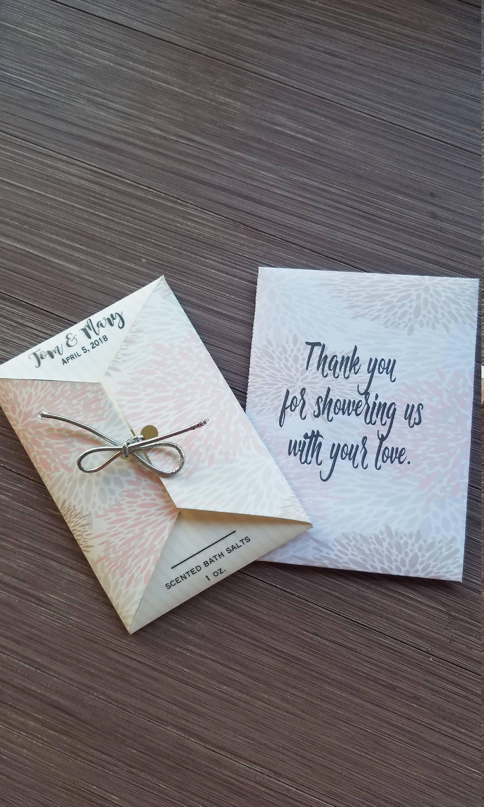 Wedding Ceremony Or Reception Sachets Bath Salts Kleenex Tissues Tears Of Joy Favors