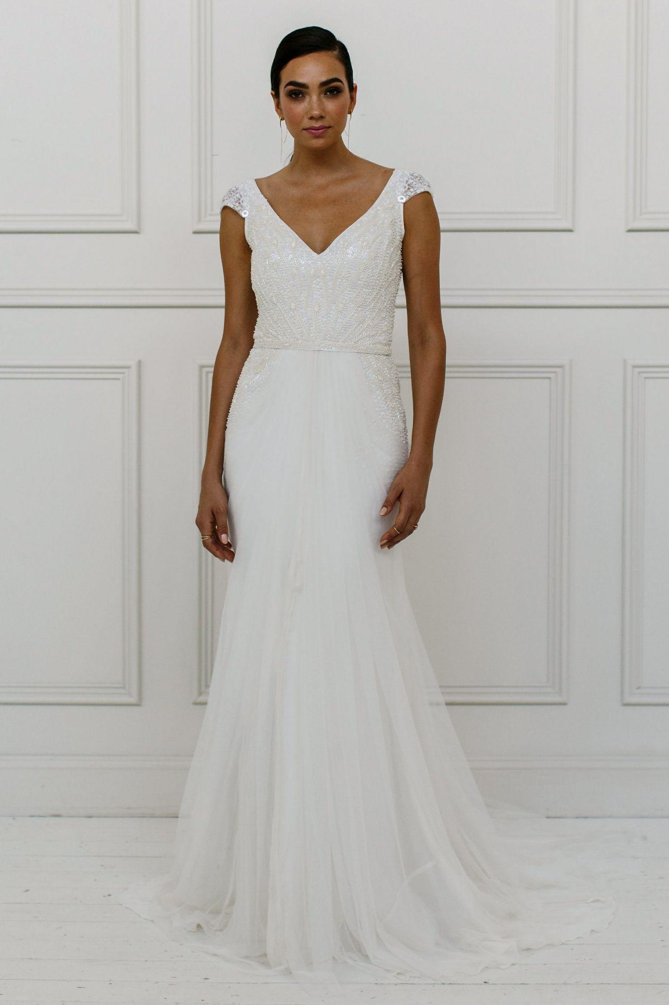 KAREN WILLIS HOLMES Valeria Wedding Dress A soft, figure