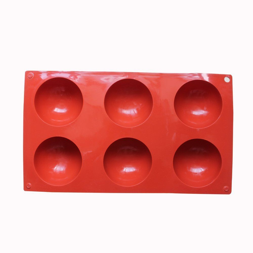 Round Shape Pudding Jelly Handmade Soap 1, White 6 Holes Silicone Molds For Chocolate Dia: 2 1//2 inches Cake