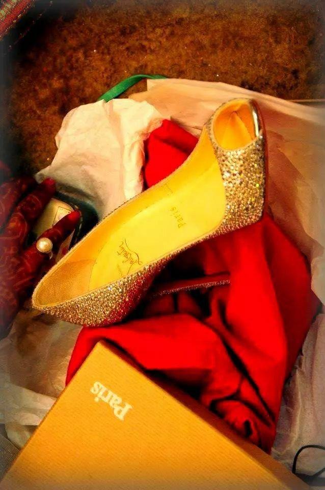 #my wedding shoe ^_^ #loubotin