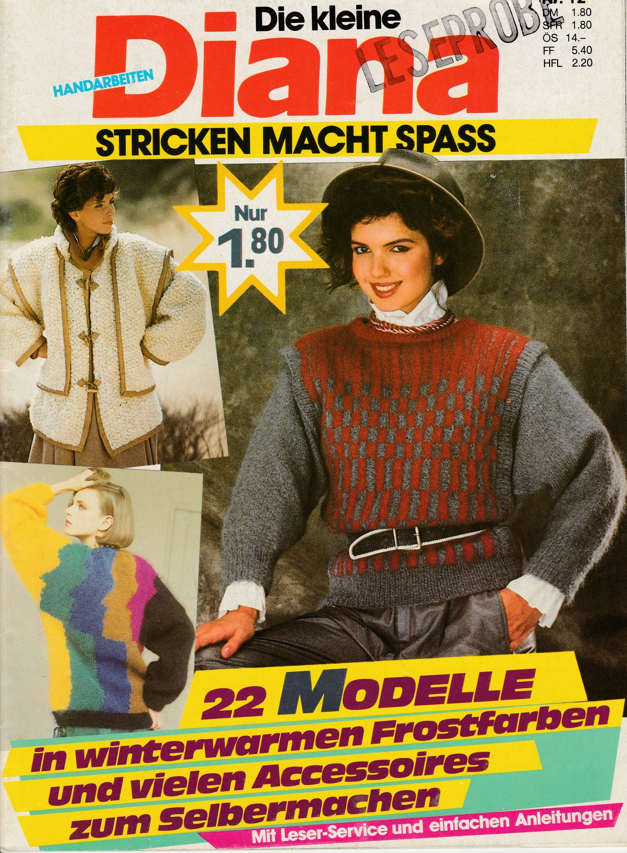 diana german magazine with knitting patterns for diy women pullovers