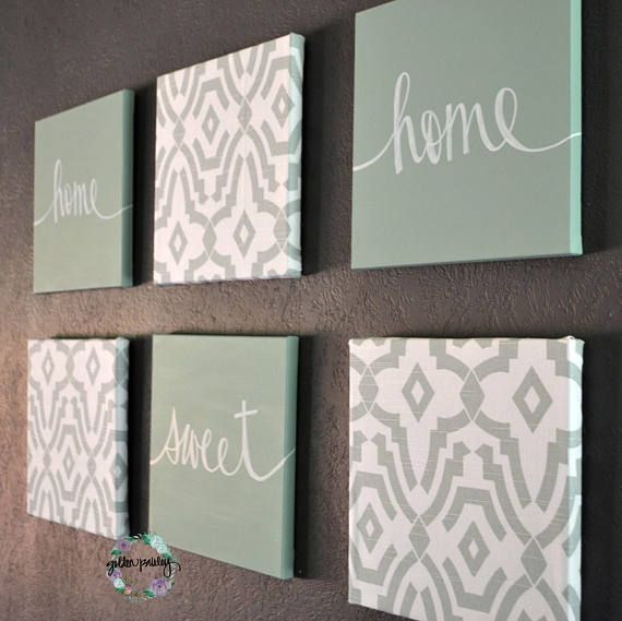 Eat Drink Be Merry Wall Decor Sage Green Art Set Canvas