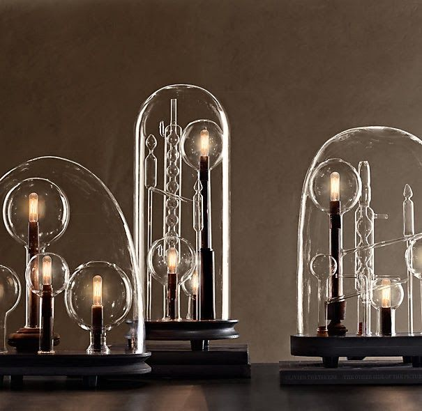 Lamp Chemistry Cloche By Restoration Hardware Http T H I N G S Blo