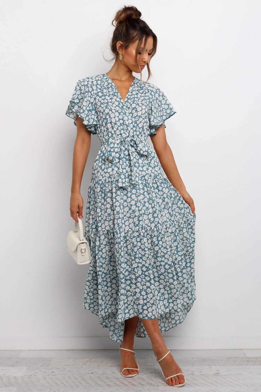 Dulcinea Dress Blue Petal Pup Usa Modest Summer Dresses Beautiful Casual Dresses Fashion [ 1500 x 1000 Pixel ]