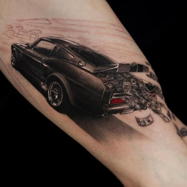 110 best 3d tattoos designs for inspiration car tattoos 3d and tattoo. Black Bedroom Furniture Sets. Home Design Ideas