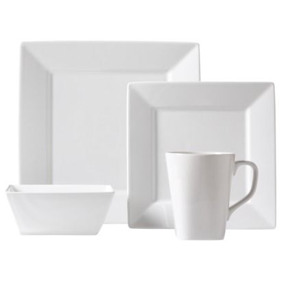 Threshold™ Square Rim 16 Piece Dinnerware Set - White Love these! Love that they are modern with the square design but still the classic white.  sc 1 st  Pinterest & Threshold™ Square Rim 16 Piece Dinnerware Set...from Target. Think I ...