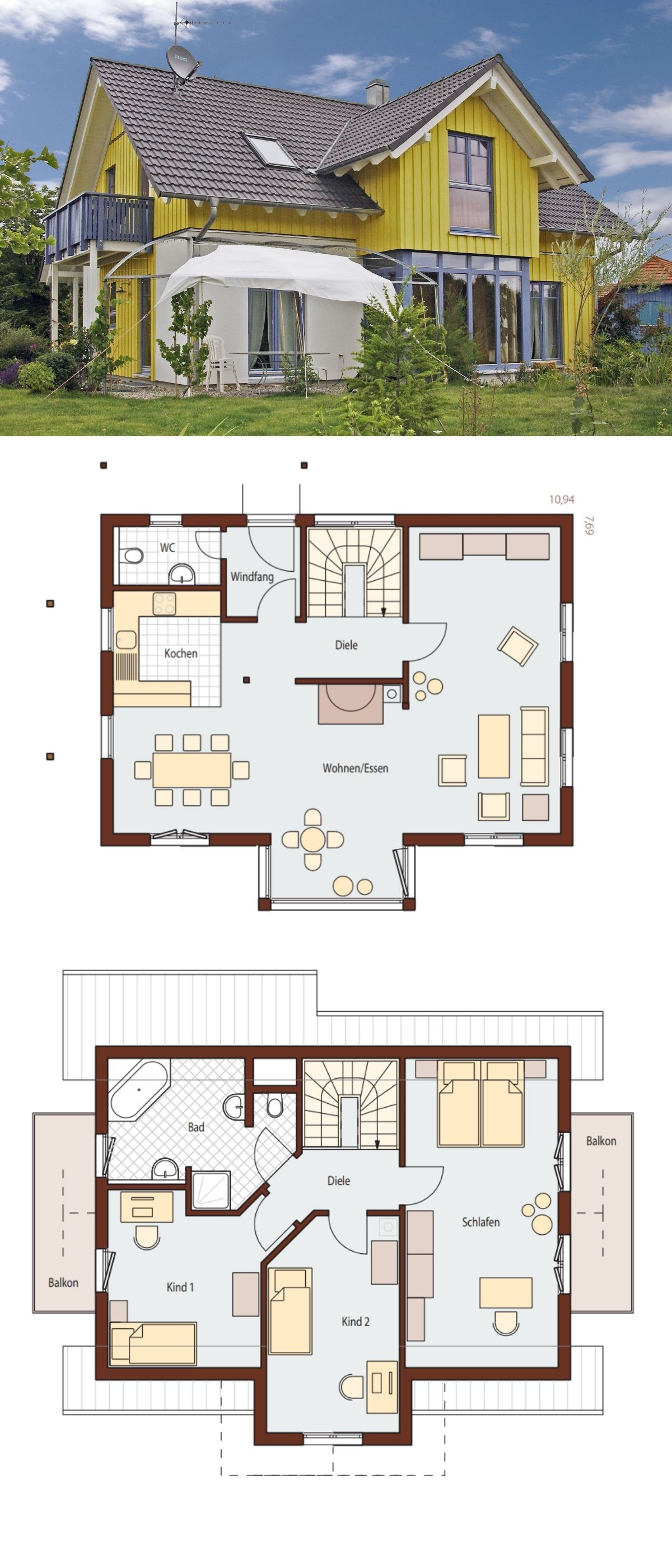 Modern Scandinavian Country Style Architecture Design House Plan ...