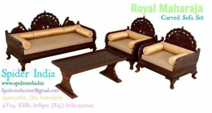Teak Wood Carved Sofa Set Art Carved Sofa Sofa Chouch Spider India Teak Wood Sohan Singh Rajasthani Luxury So Carved Sofa Wooden Sofa Wood Bed Design