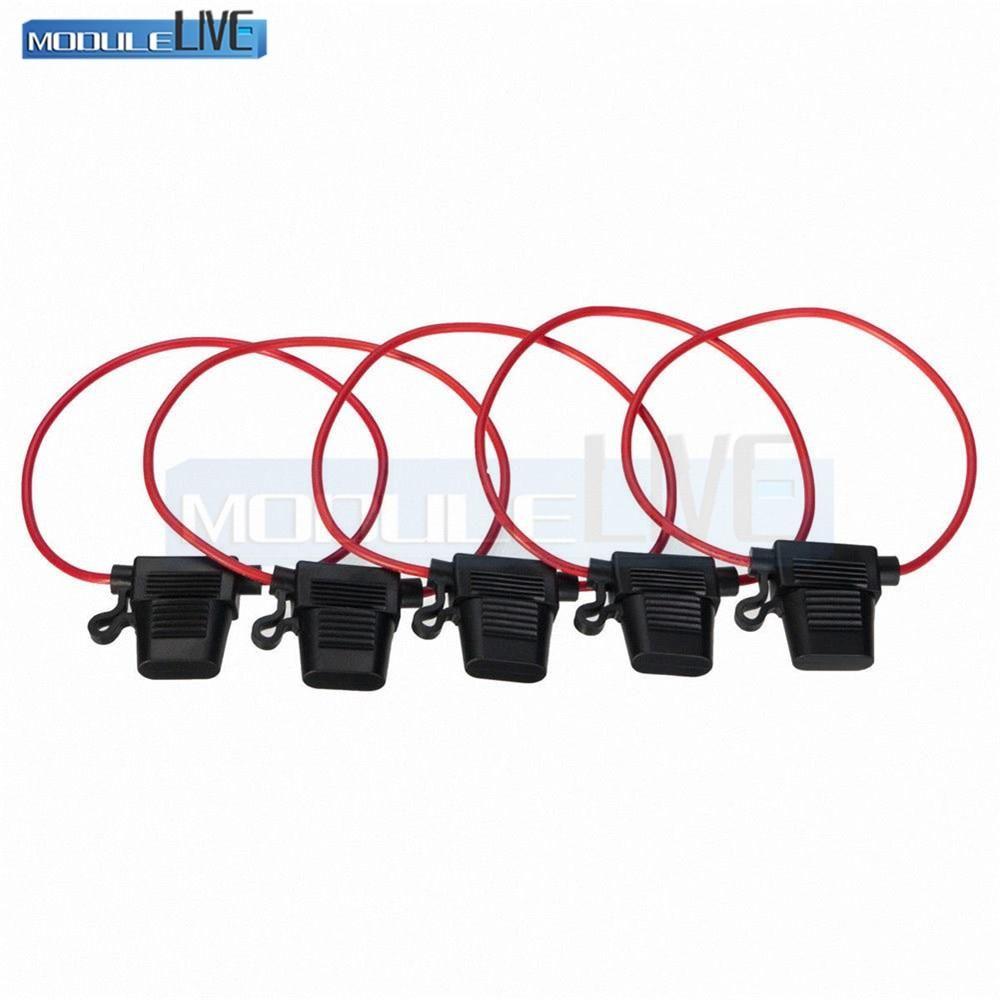 hight resolution of 5pcs in line standard car blade fuse holder splash proof fuse box for 12v 30a fuses