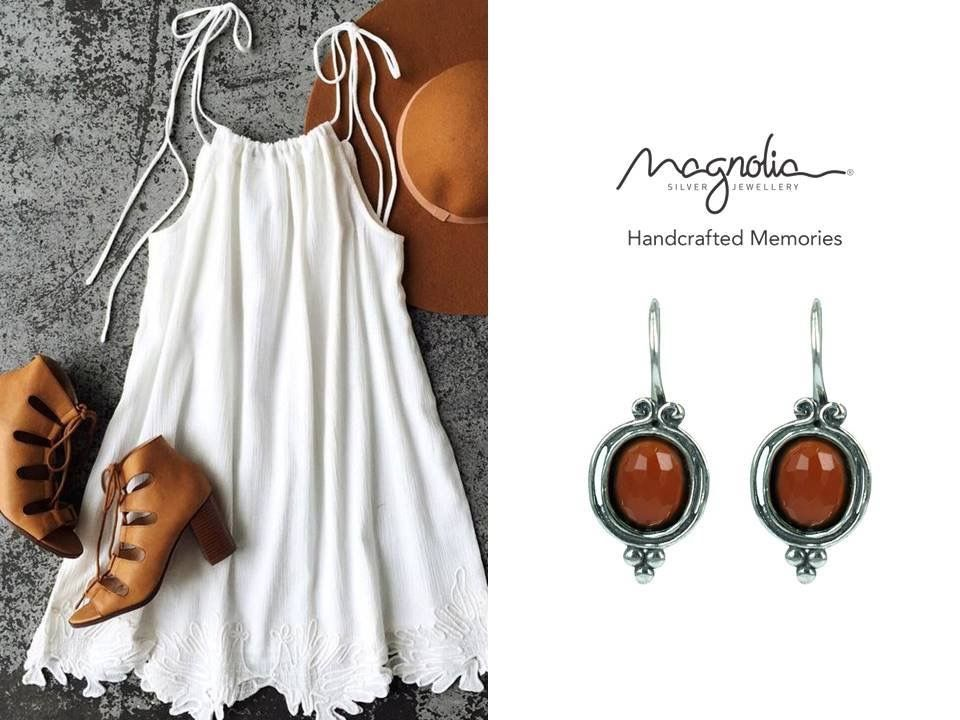 Burgundy and brown jewellery brings in the warmth we are missing