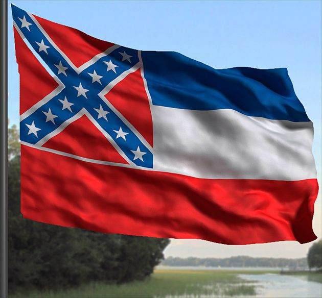 The State Fights Back Mississippi Flag Flag State Flags