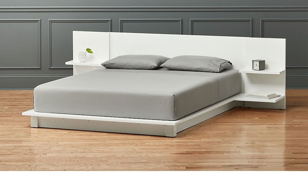 Andes White Storage Bed Cb2 White Queen Bed Bed Frame With Storage White Bedroom Furniture