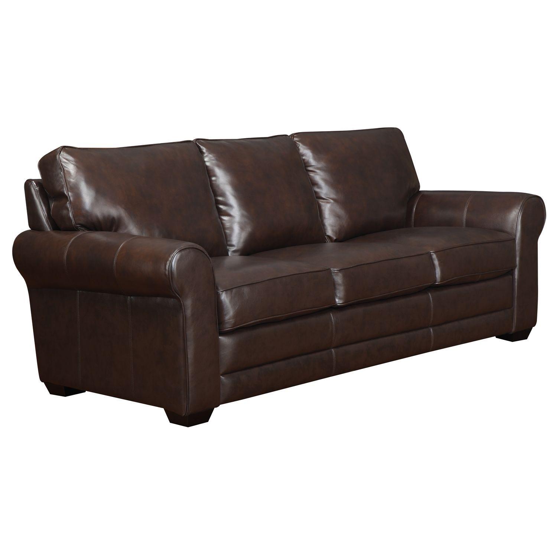 Bailey Leather Stationary Sofa - Sam's Club - $550