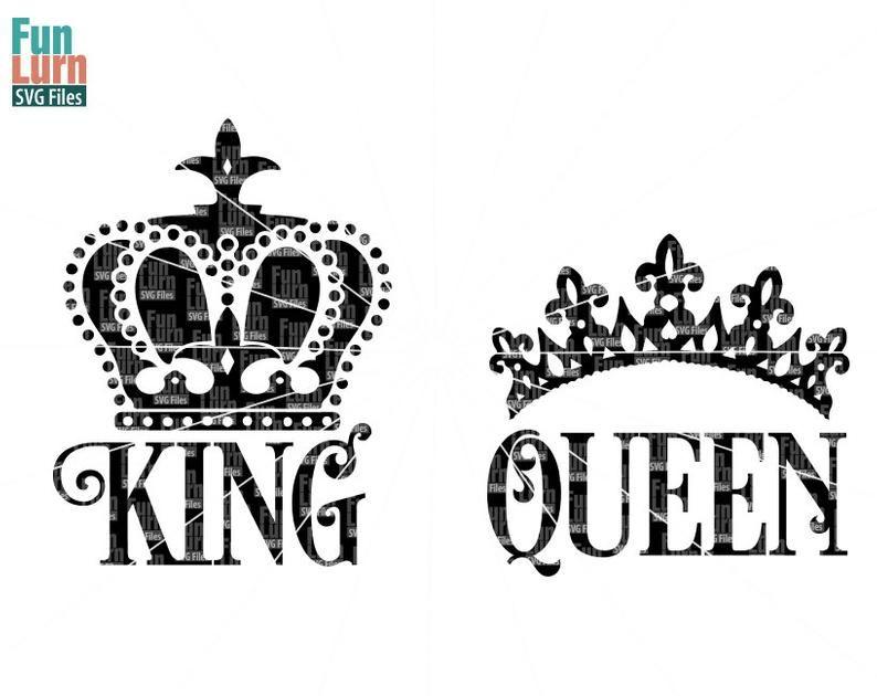 King Svg Queen Svg King Crown Queen Crown Svg Design Svg Etsy In 2021 Queen Tattoo King Queen Tattoo Crown Tattoo Design
