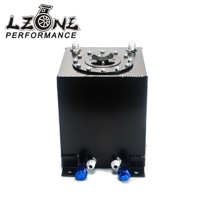 LZONE RACING - BLACK 10L Aluminium Fuel Surge tank Fuel cell  w/o sensor foam inside JR-TK13BK #Affiliate