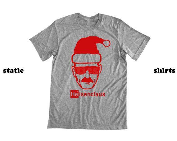 Heisenclaus Heisenberg Santa Claus Shirt Breaking Bad Gift Heisenberg Shirt Shirts Santa Claus Shirts Mens Tops