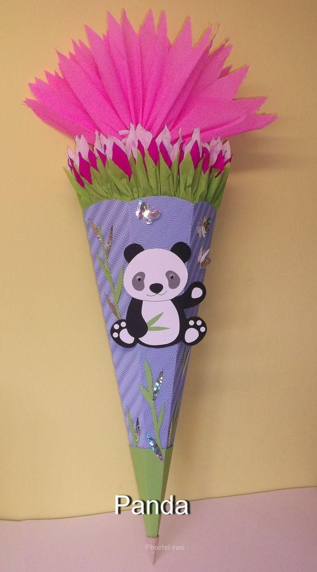 Inspiration Fur Den Schulanfang Und Die Einschulung Bastelset Schultute Zuckertute Panda Pandabar Inspira Schultute Selber Basteln Schultute Basteln Basteln