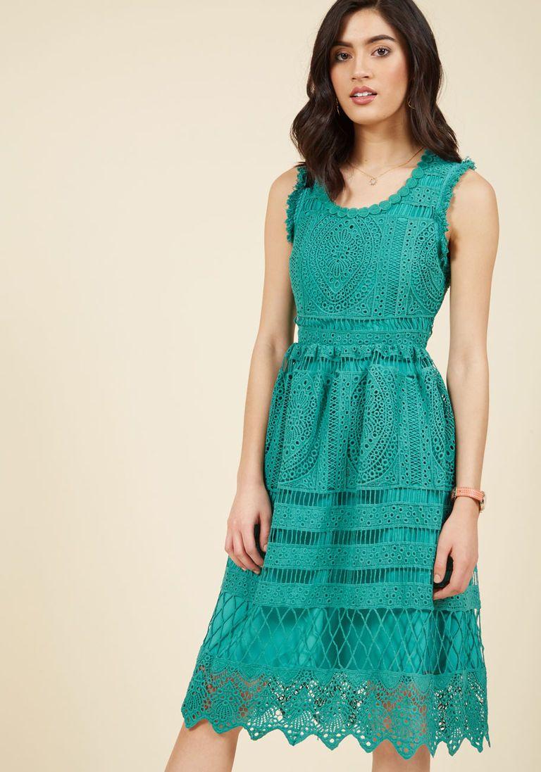 Esteemed Elegance A-Line Dress in Jade | Pinterest | Jade, ModCloth ...