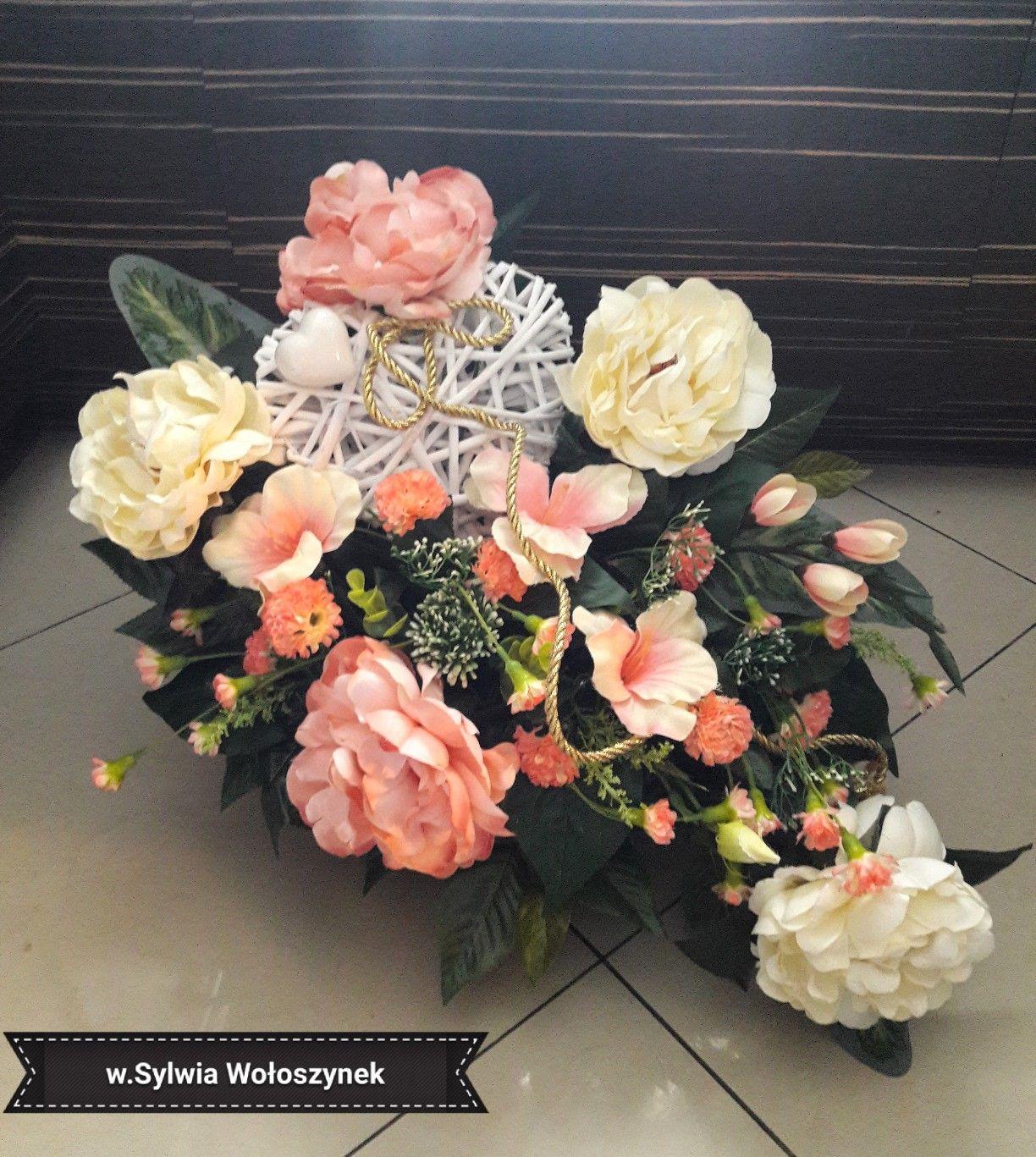 Kompozycje Nagrobne Wiosna 2018 Wyk Sylwia Woloszynek Artificial Flower Arrangements Flower Arrangements Black Flowers