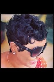 Short Pin Curls For Black Women Google Search Curly Hair Styles Quick Weave Hairstyles Short Punk Hair