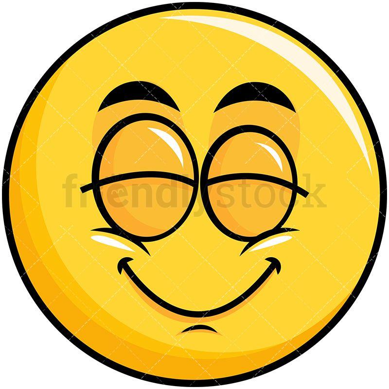 Delighted Yellow Smiley Emoji Cartoon Vector Clipart Friendlystock Smiley Emoji Emoji Clipart Emoji