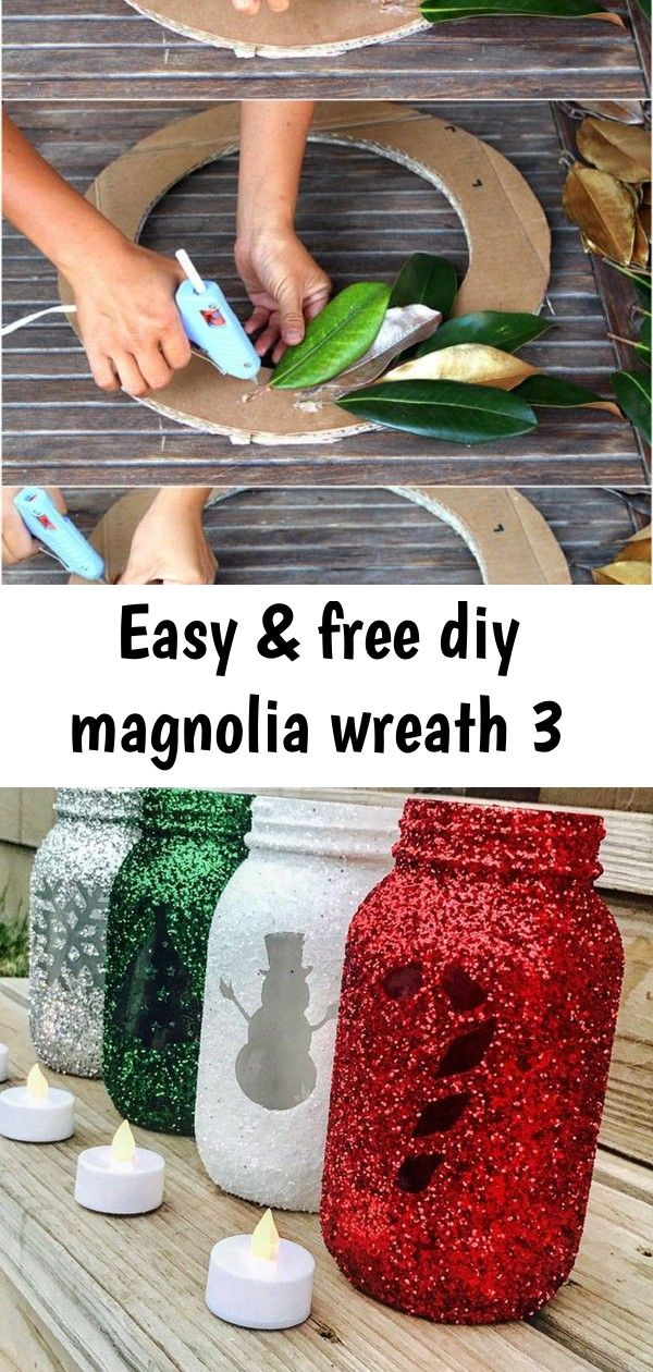 Easy & free diy magnolia wreath 3 Easy tutorial & video on how to make a FREE beautiful DIY magnolia wreath! Perfect for modern farmhouse, boho, wedding, Thanksgiving, Christmas decorations!  - A Piece of Rainbow   home decor   colorful farmhouse décor,  Christmas,  christmas crafts   23 Christmas DIY Decorations Easy and Cheap   Apartement