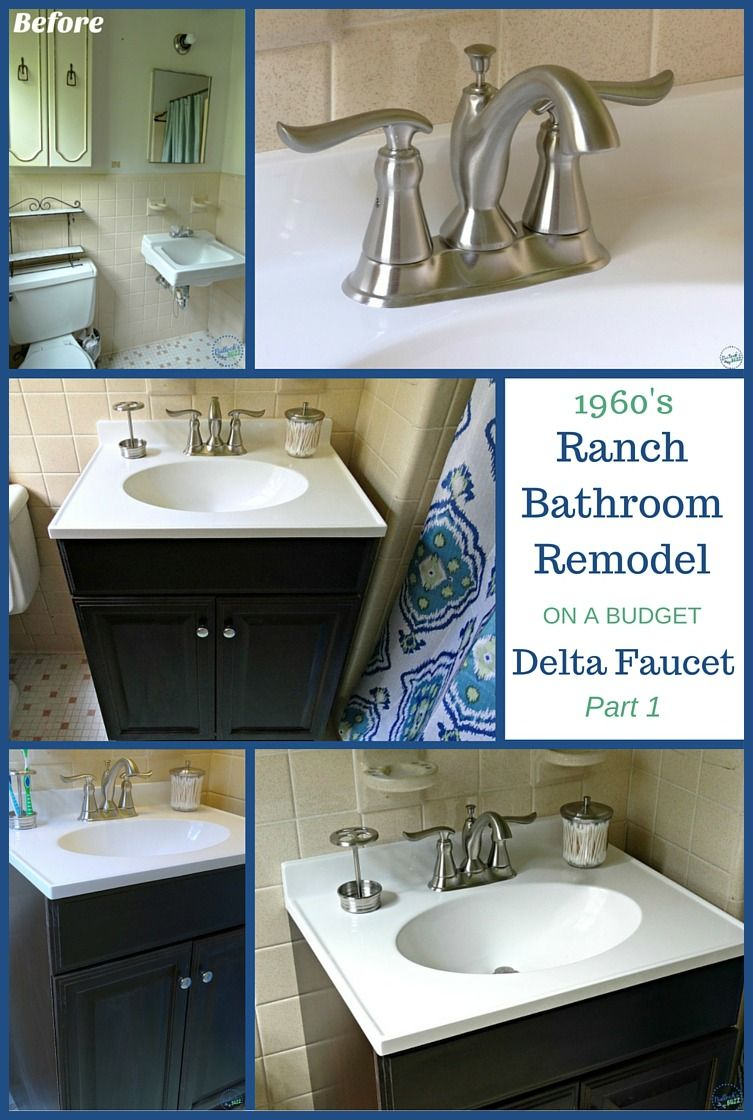 Before And After Our Budget Bathroom Update How To Upgrade Your Bathroom Sink By Replacing An Old Faucet Rathe Bathroom Update Budget Bathroom Diy Bathroom