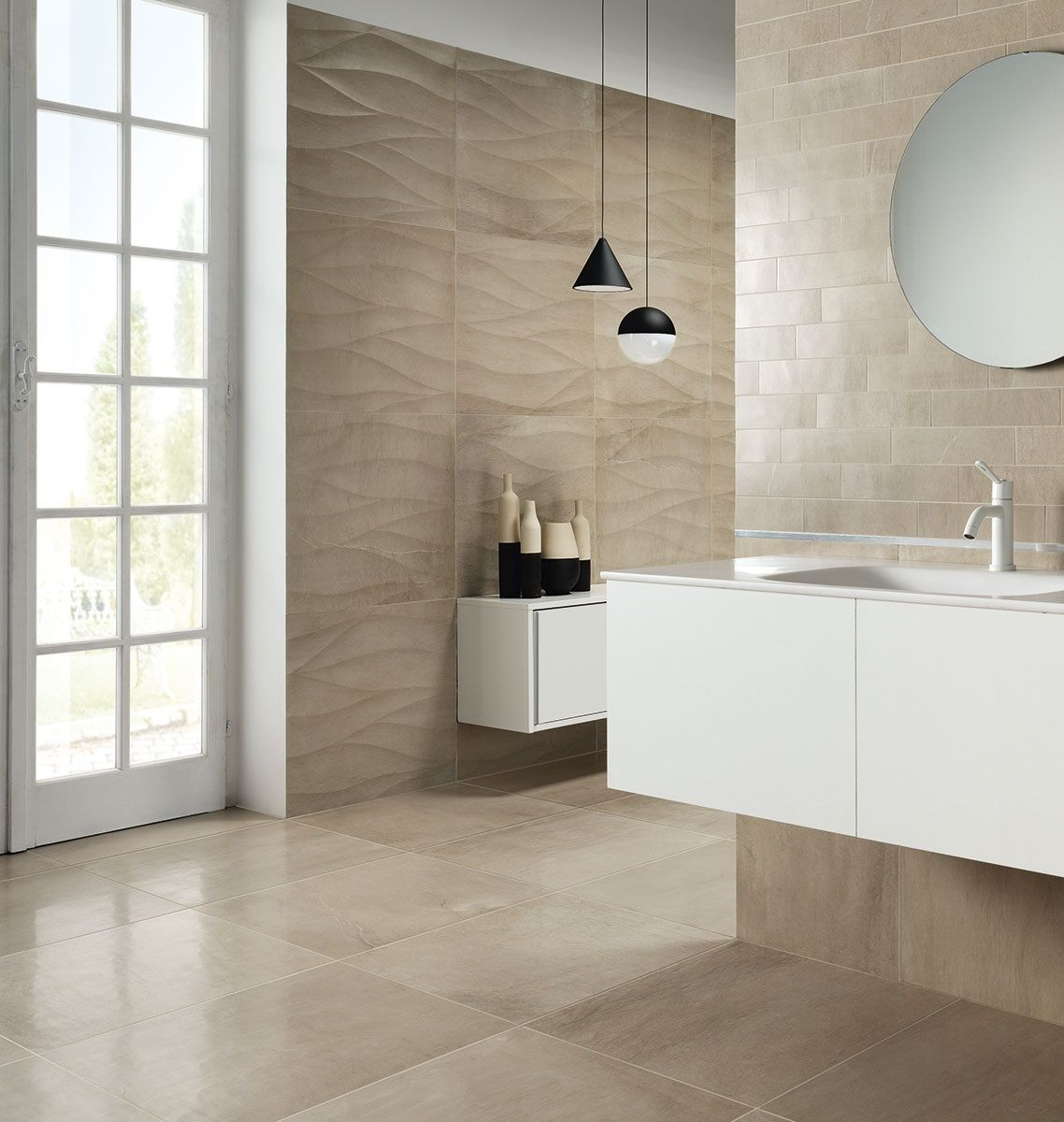 Earth Textured Tiles Bathroom Feature Wall Textured Tiles Bathroom Tiles Texture