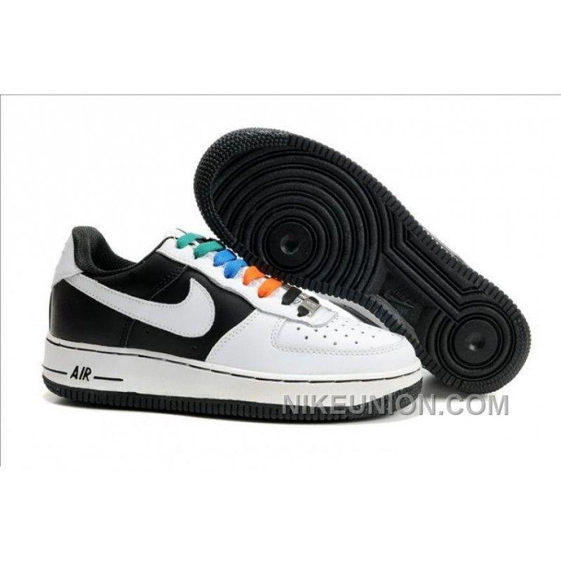 6871314da51 Nike Air Force 1 Low Black White Blue New Style