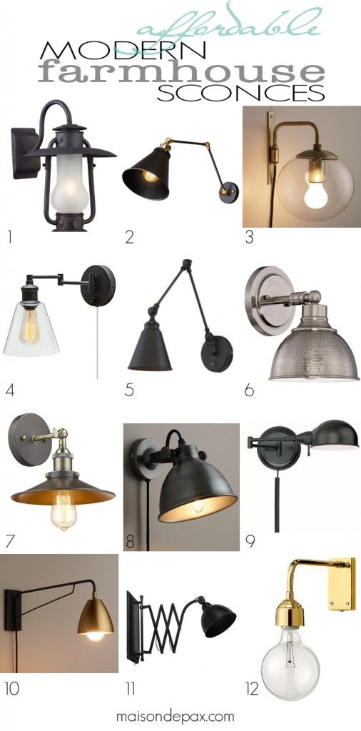 lighting sconces for living room. Affordable Modern Farmhouse Sconces  Swing arm wall lamps